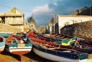 Fischerboote Ponta do Sol - Reisen auf den Kapverden