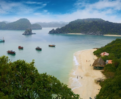 Reisen in Vietnam - Halong Bucht Panorama