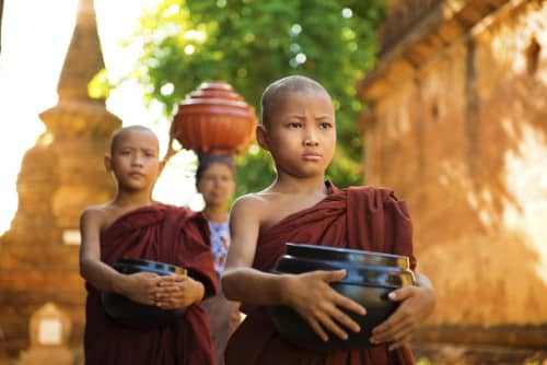 Myanmar Mönche