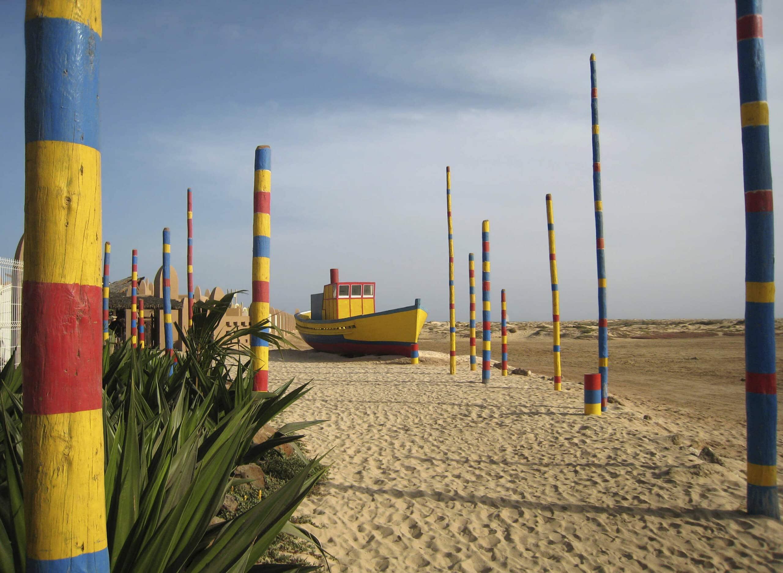 buntes Boot - Kap Verde