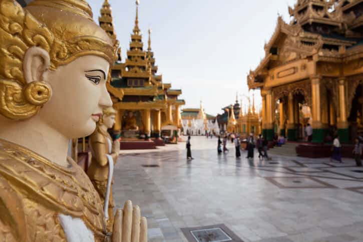 Myanmar - Yangon - Burma - Schwedagon Pagode