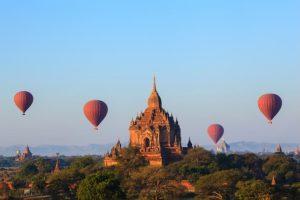Heißluftballon Reise Myanmar