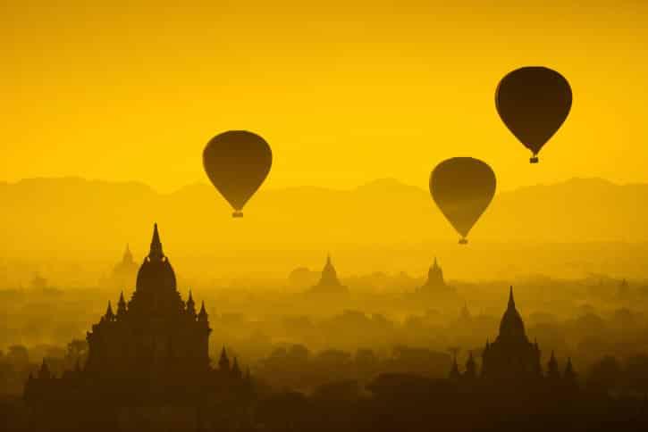 Heißluftballons Myanmar Rundreise