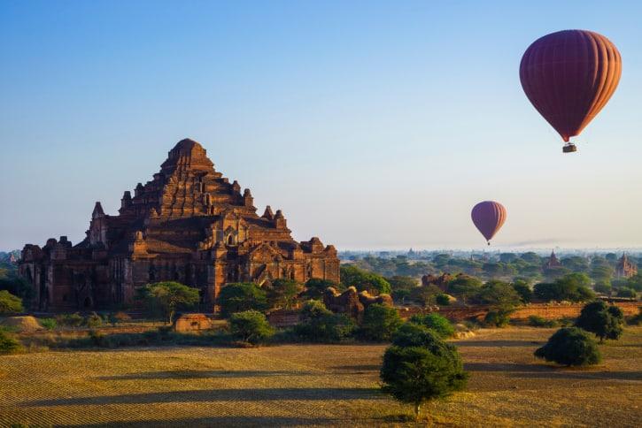 Ballon Reise in Myanmar