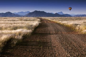 Ballonfahrt in Namibia