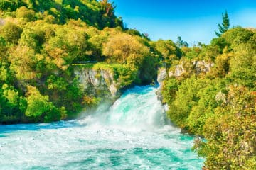 Huka Falls - Neuseeland im Oktober