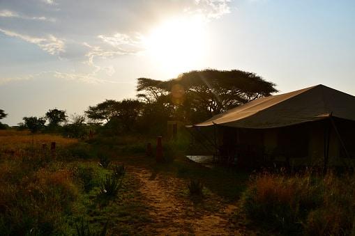Eine Lodge während unserer Reise