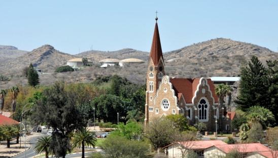 Die Kirche von Windhoek in Namibia