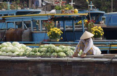 Boot - Schwimmender Markt im Mekong Delta - Vietnam
