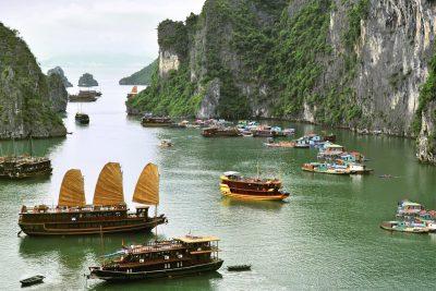 Vietnam Reise - Vietnam Rundreise -Boote - Halong Bucht