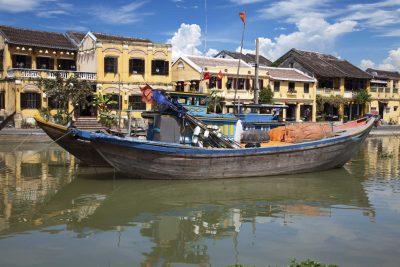 Boot in Hoi An - Vietnam Reisen