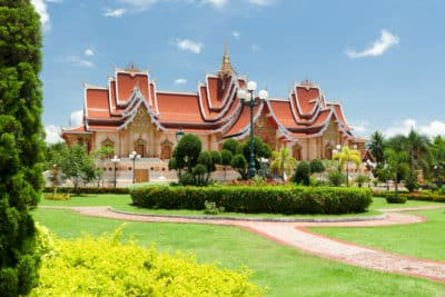 Laos Reise - Laos Kambodscha Rundreise -buddhistischer Tempel - Vientiane - Laos
