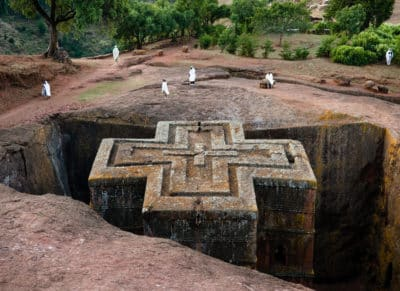Aethiopien Rundreise - Church of St George - Lalibela - Ethiopia