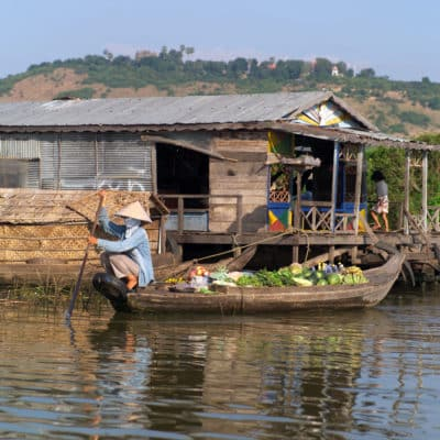 Kambodscha Individualreise -Kambodscha Laos Vietnam Rundreise -Dorf - Fluss - Kambodscha