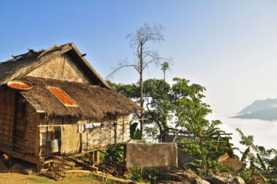 Laos Reise -Dorf - um Luang Namtha - Laos