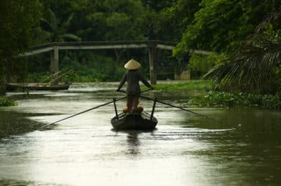 Aktivreise Vietnam Kambodscha -Vietnam Aktivreise -Vietnam Radreise -Fischerboot - Mekong - Vietnam