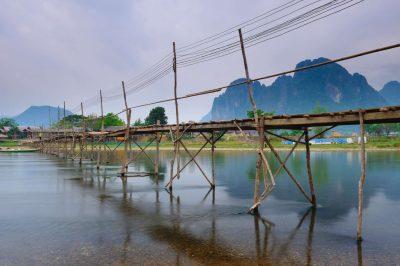 Holzbruecke in Vang Vieng - Laos