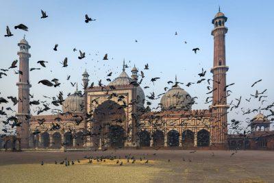 Fahrradreise Indien -Indien Gruppenreise -Jama Masjid Moschee - Dehli - Indien
