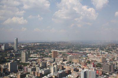 Rundreise durchs Suedliche Afrika - Suedafrika Gruppenreise - Johannesburg von oben - Joahannesburg - Suedafrika