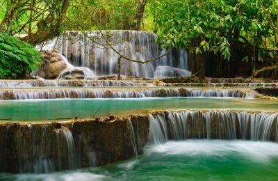 Kuang Si Wasserfall in Luang Prabang - Laos
