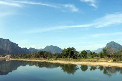 Laos Kambodscha Rundreise -Laos Rundreise -Mekong Fluss - Vang Vieng - Laos.