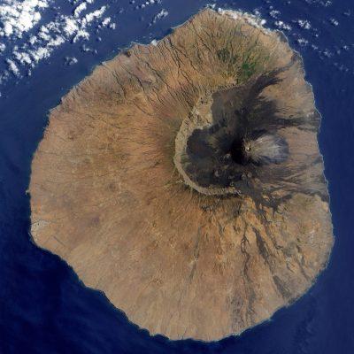 Kap Verde Wandern und Baden - Satelitenbild - Mount Fogo - Kap Verde