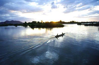Laos Reise -Laos Erlebnisreise -Laos individuell -Laos Kambodscha Gruppenreise -Sonnenuntergang - Mekong Inseln
