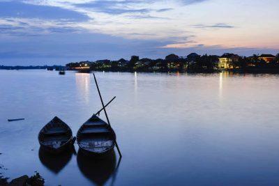 Laos individuell -Laos Kambodscha Rundreise -Laos Vietnam Gruppenreise -Sonnenuntergang am Fluss - Mekong
