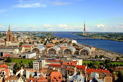 Stadtpanorama - Riga - Lettland