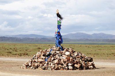 Mongolei Studienreise -Rundreise Mongolei -Gruppenreise - Mongolei - Strassenmarkierung - Mongolei