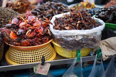 Rundreise und Baden -Kambodscha Individualreise -Kambodscha Laos Vietnam Rundreise -Strassenmarkt - Phnom Penh