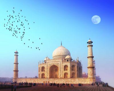 Taj Mahal Vollmond- Indien