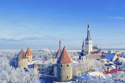 Winterliche Altstadt - Tallin - Estland