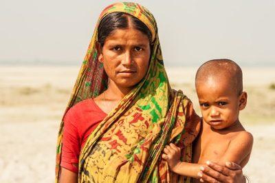 Bangladesch Rundreise - Frau mit Kind - Bogra