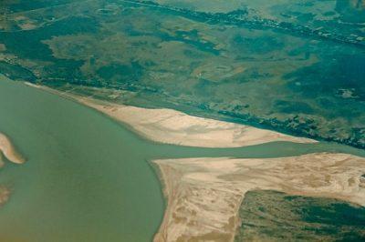 Bangladesch Rundreise - Blick von oben auf das Naturschutzgebiet in den Sundarbans