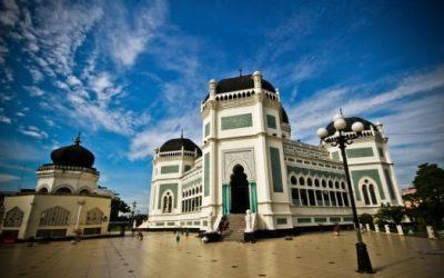 Indonesien Rundreise - Die große Moschee Masijd Raya - Medan
