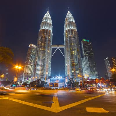 Malaysia Rundreise - Blick auf die Petronas Towers - Kuala Lumpur