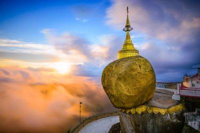 Myanmar Rundreise - Goldener Fels -Kyaikto