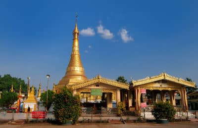 Myanmar Rundreise - Goldene Pagode -Mawlamyine