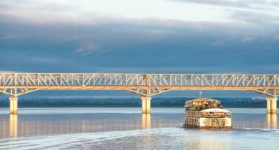 Myanmar Rundreise - Brücke und Boot -Pakokku