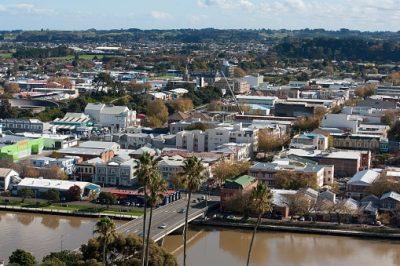 Neuseeland Rundreise - Ausblick auf Wanganui City - Wanganui City