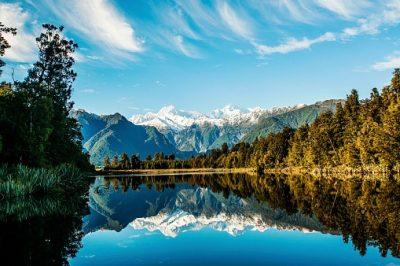 Neuseeland Rundreise - Spiegelung - Lake Matheson