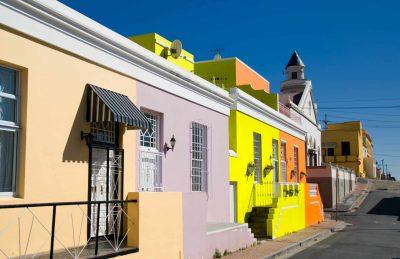Suedafrika Abenteuerreise -Suedafrika Naturreisen -Bunte Haeuser im Malaienviertel - BoKaap - Kapstadt - Suedafrika