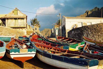 Kap Verde Wandern und Baden -Kapverden Wanderreise Kap Verde -Fischerboote Ponta do Sol- Santo Antao - Kapverden