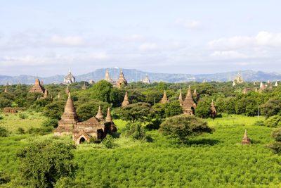 Myanmar Rundreise -Pagoden-Landschaft - Old Bagan - Myanmar
