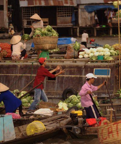 Gemüsehandler - Mekongdelta - Vietnam
