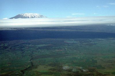 Tansania Safari -Aussicht von oben - Mount Kilimanjaro - Tansania