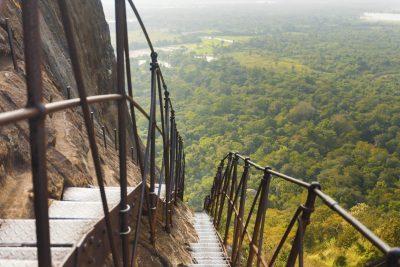 Sri Lanka Rundreise -Treppen - Sigiriya Felsenburg - Sri Lanka