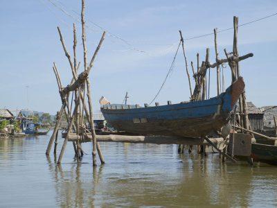 Kambodscha Individualreise -Fischerboot - Tonle Sap - Kambodscha