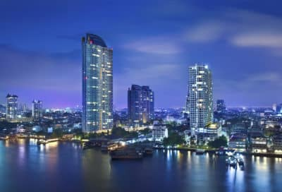 Skyline bei Nacht - Bangkok - Thailand